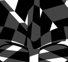 Dazzle Camo Vader Sticker