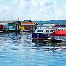 Canandaigua Fishing Shacks by Susan Savad