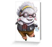 GoggleSheep - Kina Greeting Card