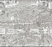ZURICH SWITZERLAND 1576 MAP by Daniel-Hagerman