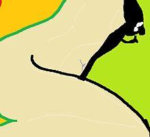 Female Nude/Lower Torso II -(240214)- Digital artwork/MS Paint by paulramnora