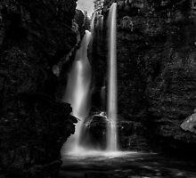 Upper Falls at Johnston Canyon - Banff National Park, Alberta by PURVESH TRIVEDI