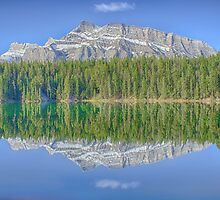 Mt. Rundle Reflection on Two Jack Lake, Banff National Park by PURVESH TRIVEDI