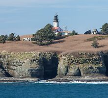 Cape Flattery Light and Tatoosh Island by Jim Stiles