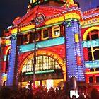 WhiteNight Melbourne ~ Flinders Street Station by Roz McQuillan