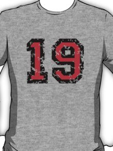 Number Nineteen - No. 19 (two-color) red T-Shirt