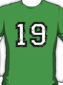 Number Nineteen - No. 19 (two-color) white T-Shirt