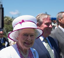 Queen Elizabeth in Perth by Alethea Rea
