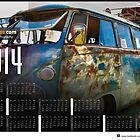 2014 VW festival Photo Calendar. The Denim vw splitscreen by jay007
