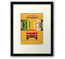 No279 My The Italian Job minimal movie poster Framed Print