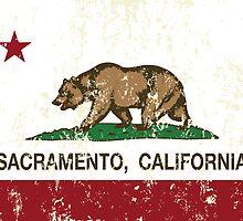 Sacramento California Republic Distressed  by NorCal