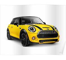 2014 Mini Cooper S hatchback car art photo print Poster