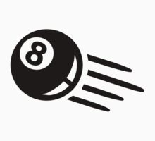 Black billiards eight 8 ball by Designzz