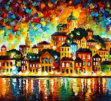 LOVELY HARBOR by Leonid  Afremov