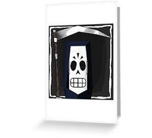 Manny Calavera Greeting Card