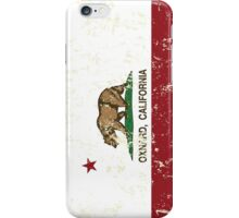 Oxnard California Republic Flag Distressed iPhone Case/Skin
