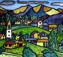 Swiss Folk Scape by Monica Engeler