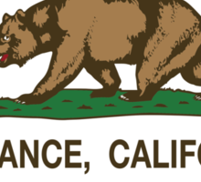 Torrance California Republic Flag Sticker