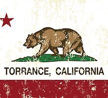 Torrance California Republic Flag Distressed by NorCal