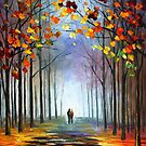 AUTUMN FOG by Leonid  Afremov