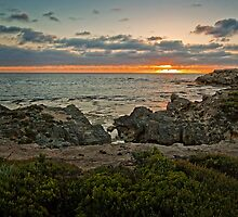Pickering Point sunset by Roger Neal