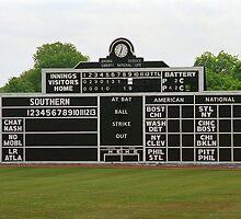 Vintage Baseball Scoreboard by Frank Romeo