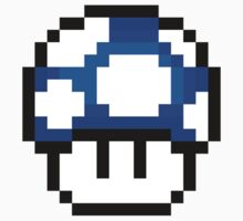 8-Bit 1-Up Mushroom (Blue) by gam3r