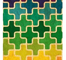Cross Puzzle Pieces iPad by msashleynicolee
