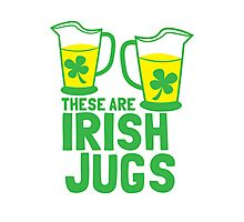 These are IRISH Jugs with green shamrcoks Photographic Print