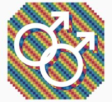 Gay male symbol - White only by matt lloyd