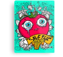 Save The Veggies - Tomato Metal Print