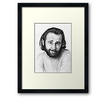 George Carlin Watercolor Portrait Framed Print
