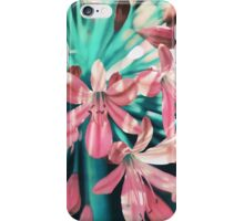 Sunny Agapanthus Flower in Pink & Teal iPhone Case/Skin