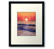 Morning Sun Over Atlantic Ocean Framed Print
