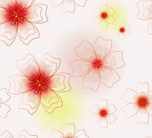 Floral seamless pattern. Background. by lilileka