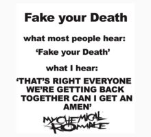 My Chemical Romance- Fake Your Death by milliontheearth