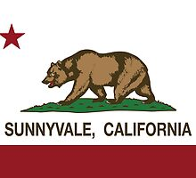 Sunnyvale California Republic Flag by NorCal