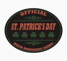 Official St Patrick's Day Beer Drinking Shirt by xdurango