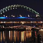 Newcastle Quayside After Dark by Giorgio Elesaro