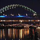 Newcastle Quayside After Dark by Giorgio Elesaro