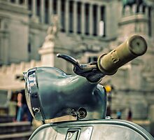Vespa at the Il Vittoriano monument - Rome, Italy  by Juvani Photo | Digital Art