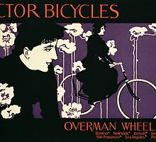Reproduction of a poster advertising Victor Bicycles by Bridgeman Art Library
