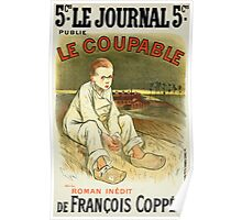 Reproduction of a poster advertising the novel Le Coupable Poster