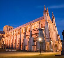 Winchester Cathedral at dusk by Ian Middleton