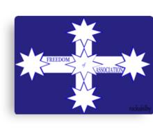 Freedom Of Association Eureka Flag Canvas Print