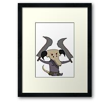 Cute Capra Demon Framed Print