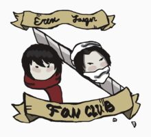 Eren Jaeger Fan Club T-Shirt by LoveHair