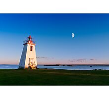 Lighthouse in moon light  Photographic Print