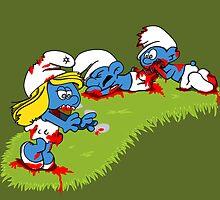 The Smurfing Dead by katstark