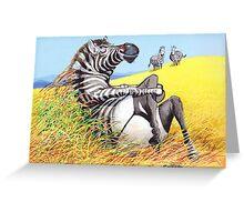 Sexy Zebra Greeting Card